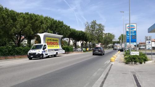 Esempio di Vele pubblicitarie in Toscana